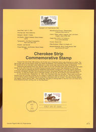 USPS Souvenir Page 93-10   2754      29c Cherokee Strip 93-10