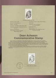 USPS Souvenir Page 93-11   2755      29c Dean Acheson 93-11