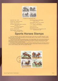 USPS Souvenir Page 93-12   2756-59    29c Sports Horses 93-12