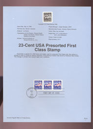 USPS Souvenir Page 93-13   2608B     23c USA-Presorted 93-13