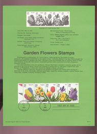 USPS Souvenir Page 93-14   2760-64    29c Garden Flower 93-14