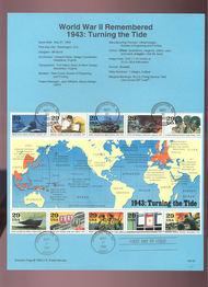 USPS Souvenir Page 93-16   2765      29c World War II-S 93-16