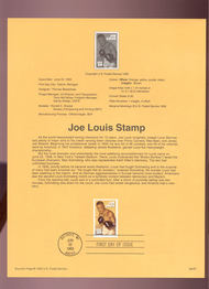 USPS Souvenir Page 93-20   2766      29c Joe Louis 93-20