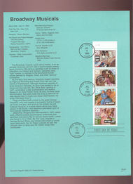 USPS Souvenir Page 93-22   2767-70    29c Brdwy Musical 93-22