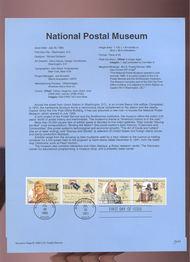 USPS Souvenir Page 93-23   2779-82    29c Nat. Postal Mu 93-23