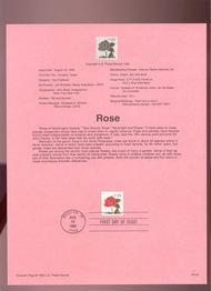 USPS Souvenir Page 93-24   2479      29c Rose Self-adhe 93-24