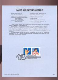 USPS Souvenir Page 93-25   2784/83    29c Deaf Commun. 93-25