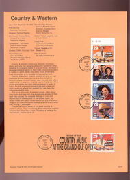 USPS Souvenir Page 93-26   2775/8     29c Country Music  93-26