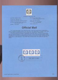 USPS Souvenir Page 93-28   O146A     10c Official Mail 93-28