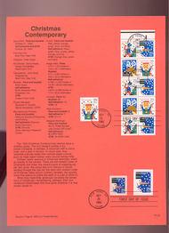 USPS Souvenir Page 93-29   2791-4     29c Contem..Xmas(1 93-29