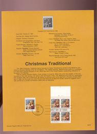 USPS Souvenir Page 93-30   2789-0a    29c Trad. Xmas 93-30