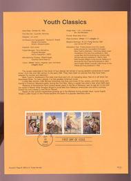 USPS Souvenir Page 93-31   2785-88    29c Youth Classics 93-31