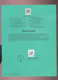 USPS Souvenir Page 93-33   2480      29c Pine Cone SA 93-33