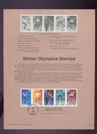 USPS Souvenir Page 94-01   2807-11    29c Winter Olympic 94-01