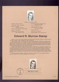 USPS Souvenir Page 94-02   2812      29c Edward R. Murr 94-02