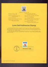 USPS Souvenir Page 94-03   2813      29c Sunrise Love 94-03