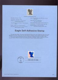 USPS Souvenir Page 94-05   2598      29c Eagle Self-adh 94-05