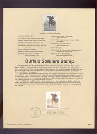 USPS Souvenir Page 94-09   2818      29c Buffalo Soldie 94-09