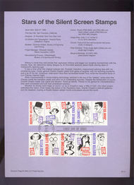 USPS Souvenir Page 94-10   2819-28    29c Silent Screen  94-10