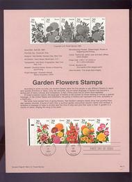 USPS Souvenir Page 94-11   2833a     29c Garden Flowers 94-11