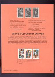 USPS Souvenir Page 94-14   2834-36    29c-50c Soccer Cup 94-14