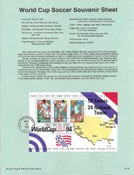 USPS Souvenir Page 94-15   2837      29c-50c Souv Shee 94-15