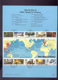 USPS Souvenir Page 94-16   2838      29c WW II Minishe 94-16
