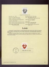 USPS Souvenir Page 94-17   2814B     29c Love 94-17