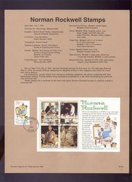 USPS Souvenir Page 94-20   2839-40    29c-50c Rockwell 94-20