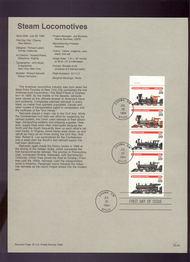 USPS Souvenir Page 94-22   2847a     29c Locomotives-Bk 94-22
