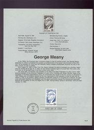 USPS Souvenir Page 94-23   2848      29c George Meany 94-23