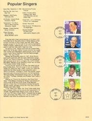 USPS Souvenir Page 94-25   2849-53    29c Popular Singer 94-25