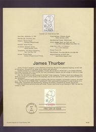 USPS Souvenir Page 94-26   2862      29c James Thurber 94-26
