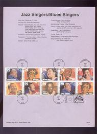 USPS Souvenir Page 94-27   2954-61    29c Blues & Jazz S 94-27