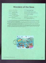 USPS Souvenir Page 94-28   2866a     29c Wonders of Se 94-28