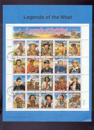 USPS Souvenir Page 94-36   2869      29c Legends of Wes 94-36