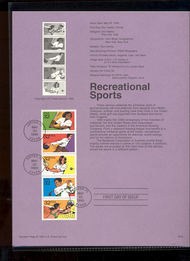USPS Souvenir Page 95-16   2961-65    32c Recreational S 95-16