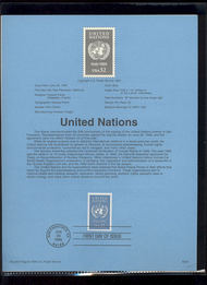 USPS Souvenir Page 95-26   297      32c United Nations 95-26