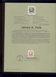 USPS Souvenir Page 95-49   2587      32c James K. Polk 95-49