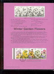 USPS Souvenir Page 96-02   3029a     32c Garden Flowers 96-02
