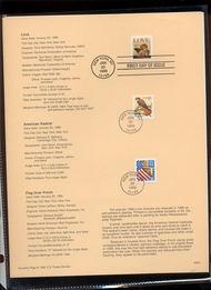 USPS Souvenir Page 96-03   3030//92    32c Love SA32c Fla 96-03