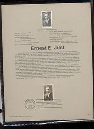 USPS Souvenir Page 96-05   3058      32c Ernest E. Just 96-05