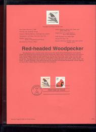 USPS Souvenir Page 96-06   3032      32c Woodpecker 96-06