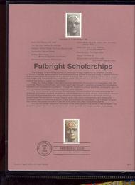 USPS Souvenir Page 96-10   3065      32c Fulbright Scho 96-10