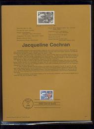 USPS Souvenir Page 96-11   3066      50c Jacqueline Coc 96-11