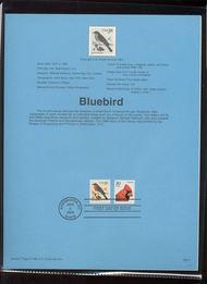 USPS Souvenir Page 96-13   3030      3c Eastern Bluebir 96-13
