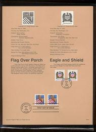 USPS Souvenir Page 96-15   2907//21    (10c) Eagle &32c  96-15