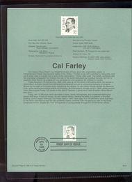 USPS Souvenir Page 96-16   2934      32c Cal Farley 96-16