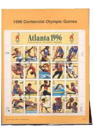 USPS Souvenir Page 96-17   3068      32c Olympics Sheet 96-17