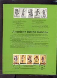 USPS Souvenir Page 96-20   3076a     32c Indian Dancer 96-20